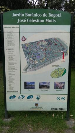 Mapa - Picture of Jardin Botanico de Bogota Jose Celestino Mutis ...