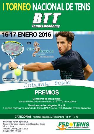 Cabarete, República Dominicana: Tennis Tournament Jan 16-17, 2016