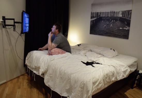 Einholt Apartments : Bedroom area (Man not included, haha)