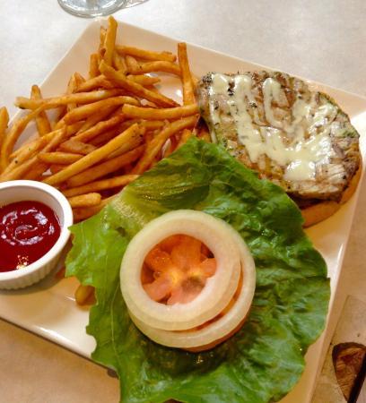 Garlic Ahi Sandwich with Fries