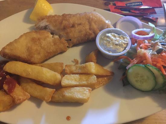 Kilcolgan, أيرلندا: fish & chips