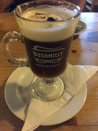 Kilcolgan, Irlanda: Irish coffee!
