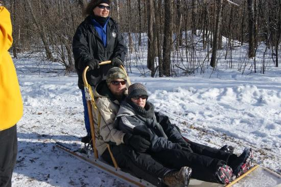Faribault, MN: Dog sled rides at the nature center