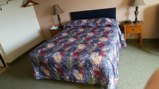 Eagle's Lodge Motel: A single queen bedroom.