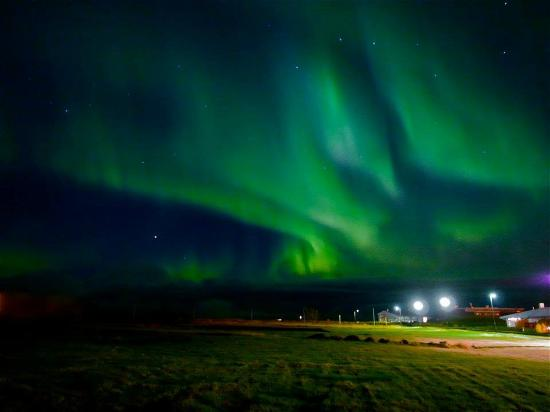 Cinema No. 2 at the Old Harbour Village: Northern lights 2, close by The Cinema, Oct.15. Photo: Valdimar Leifsson