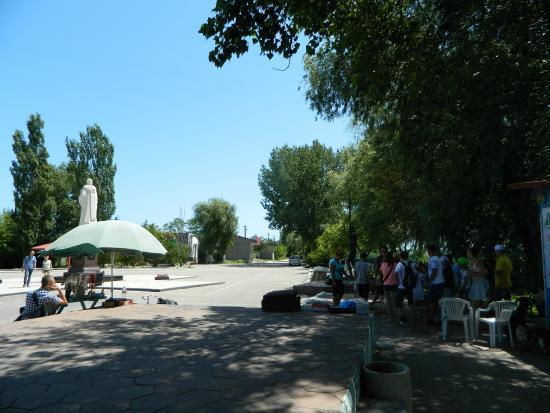 Vilkovo, Ukraine: Площадь возле Дуная