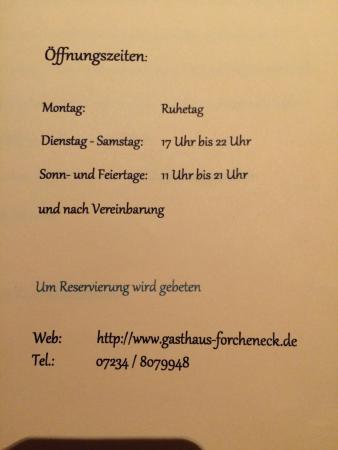 Tiefenbronn, Duitsland: Öffnungszeiten