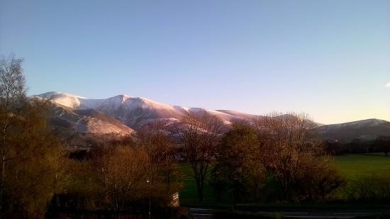 Middle Ruddings Country Inn: View of Skiddaw from our bedroom window