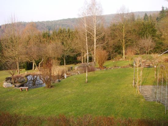 Monchberg, Tyskland: A park around the hotel