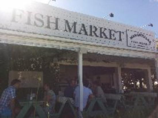 Fish market bild fr n fish market manantiales for Andreas fish market