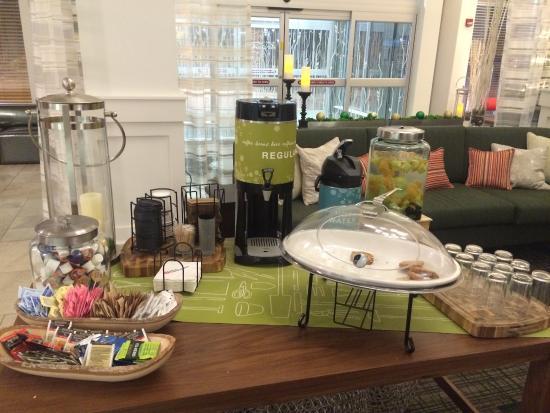 hilton garden inn hickory complimentary coffee tea and snacks in hotel lobby - Hilton Garden Inn Hickory Nc