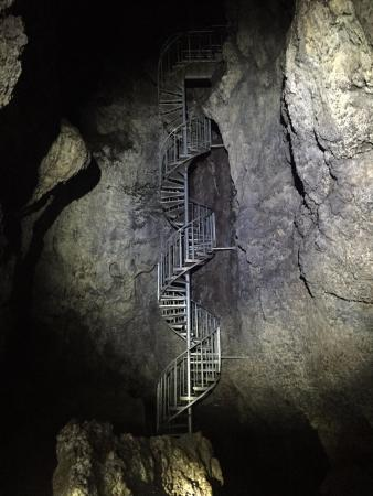 Snaefellsbaer, Исландия: Stairs inside the cave