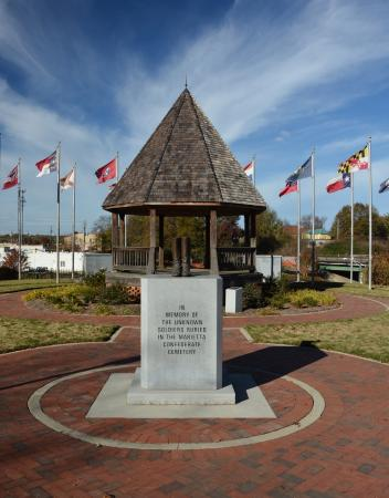 Marietta Confederate Cemetery: Pavilion and Monument to the Unknowns
