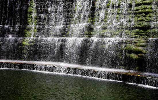 Awesome The Rock Garden Of Chandigarh: Waterfall At Rock Garden