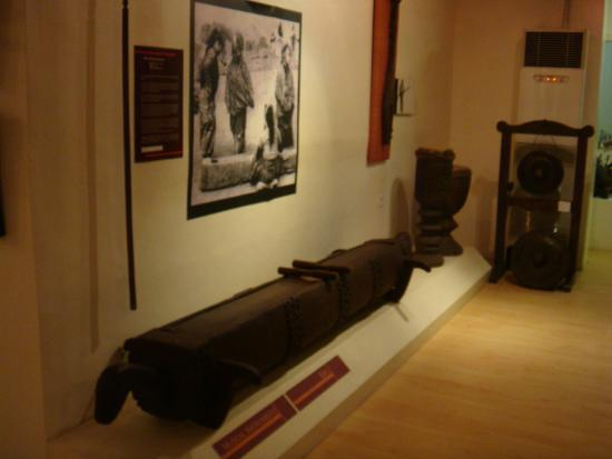 Davao Museum: Udol - a wooden drum like instrument made out of a hollowed out log.