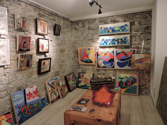 Martello Alley: Some of the work on display