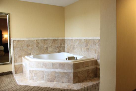 New Columbia, PA: King Jacuzzi Suite, king bed and sleeper sofa