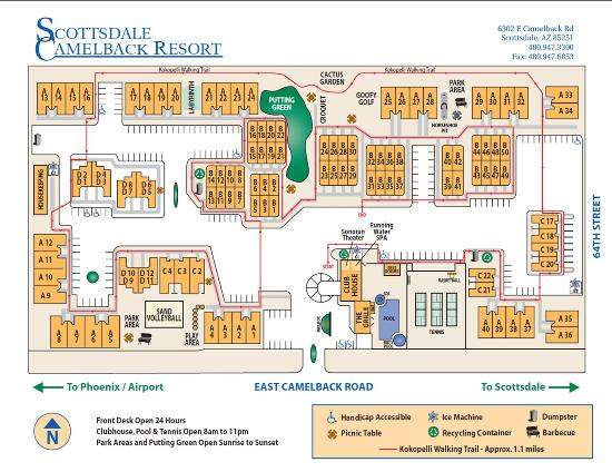 Property Map Picture of Scottsdale Camelback Resort Scottsdale