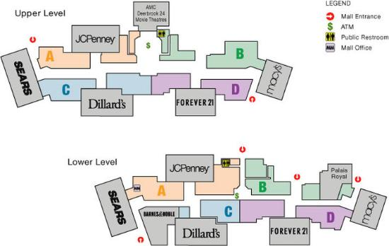 Deerbrook Mall Map | compressportnederland