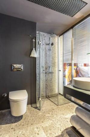 Lampa Design Hotel: Das Topp Moderne Badezimmer Lässt Keine Wünsche Offen.  Haarfön Und Pflegeprodukte
