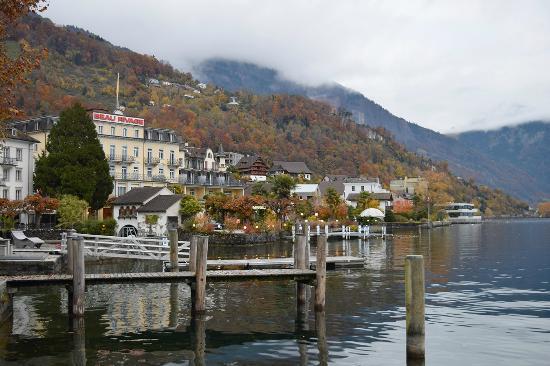 Hotel Beau Rivage: Beautiful view of the lake - Weggis - Beau Rivage Hotel.