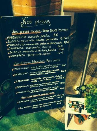 La Petite Italie : Carte des pizza (sur place ou à emporter)