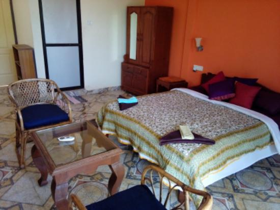 Anjuna, Indien: Suite : 1 double and 1 single bed