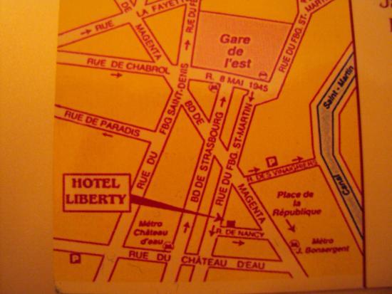 Hotel Liberty: pianta per raggiungere facilmente l'hotel