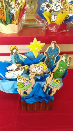 Nativity Scene Cookie Bouquet Picture Of Cookies By Design Fort