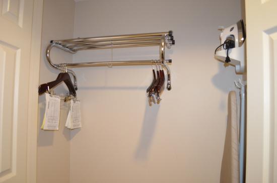 Wingate By Wyndham Chesapeake: Closet With Hangers With Iron U0026 Ironing  Board.