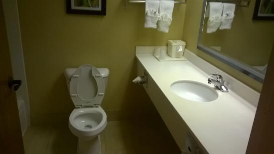 Comfort Suites: Not clean bathroom