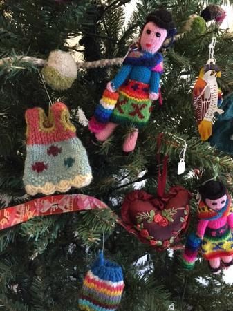 Maiden Rock, WI: Handknit ornaments