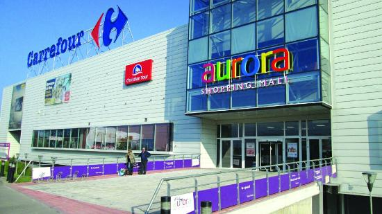Buzau, Rumänien: Aurora Shopping Mall