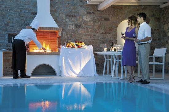 Mykonos Grand Hotel & Resort: Private Pool BBQ Experience