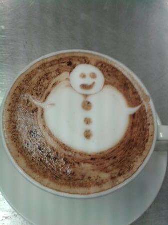 Leighlinbridge, İrlanda: Christmas cappuccino! !