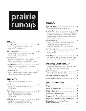 Albertville, MN: menu 1