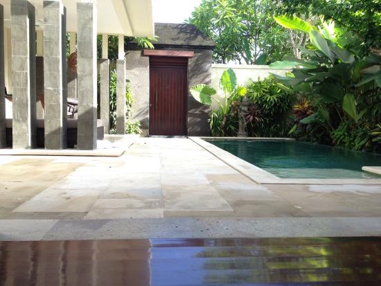 Private entrance into the villa