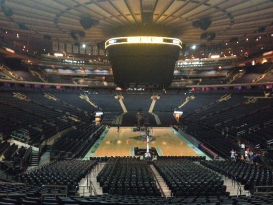 Msg Basketball Field Foto Di Madison Square Garden All