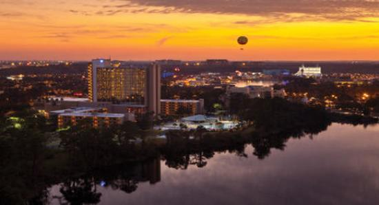 Wyndham Lake Buena Vista Disney Springs Resort Area: Full Property Exterior With Downtown Disney Nightt