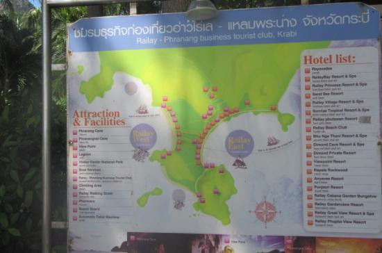 Bhu Nga Thani Resort and Spa : Übersicht Railay West und East