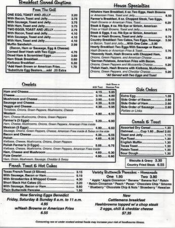 South Point Restaurant: Menu Page 2