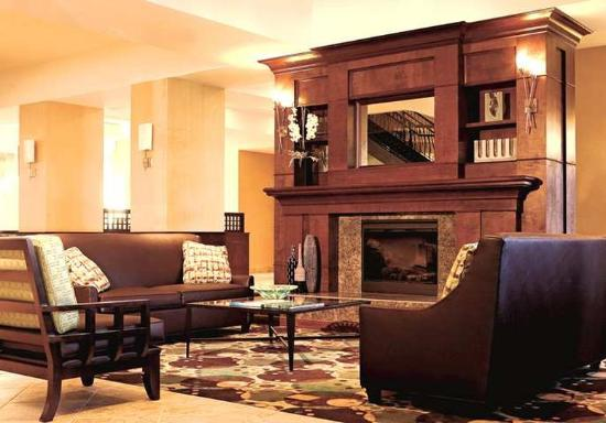Lobby Fireplace Picture Of Hilton Garden Inn Sioux Falls