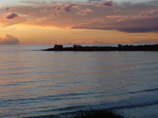 Province of Ragusa, Italie : Abendstimmung in der Bucht