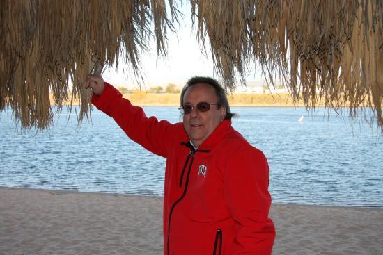 Avi Resort & Casino: Winter time - private beach at Avi.