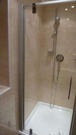 Hotel Alpenjuwel Jager: große Dusche