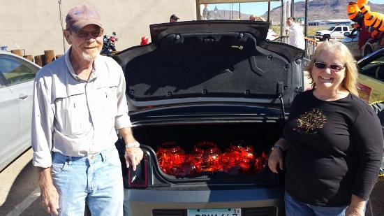 Golden Valley, AZ: Owners of Peggy Sue's Diner participating in the Trunk & Treat event