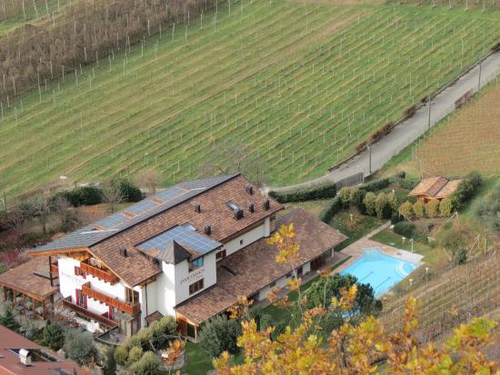 Hotel Garni Partaneshof: Vista dall'alto.