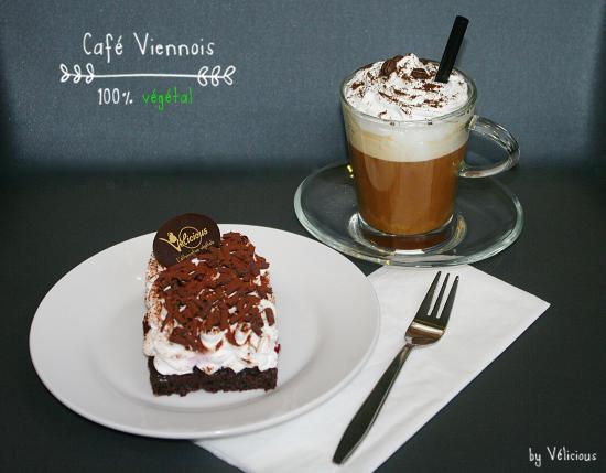 Café Viennois avec sa crème chantilly 100% végétale ☕