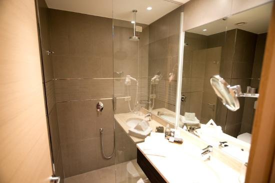 Bathroom picture of best western plus quid hotel venice for Best western bathrooms