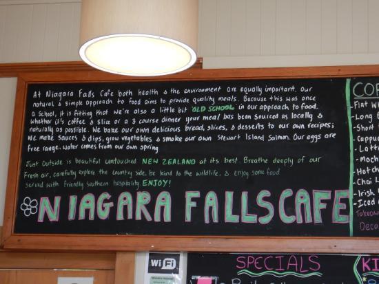 Tokanui, Nuova Zelanda: Niagara Falls Cafe